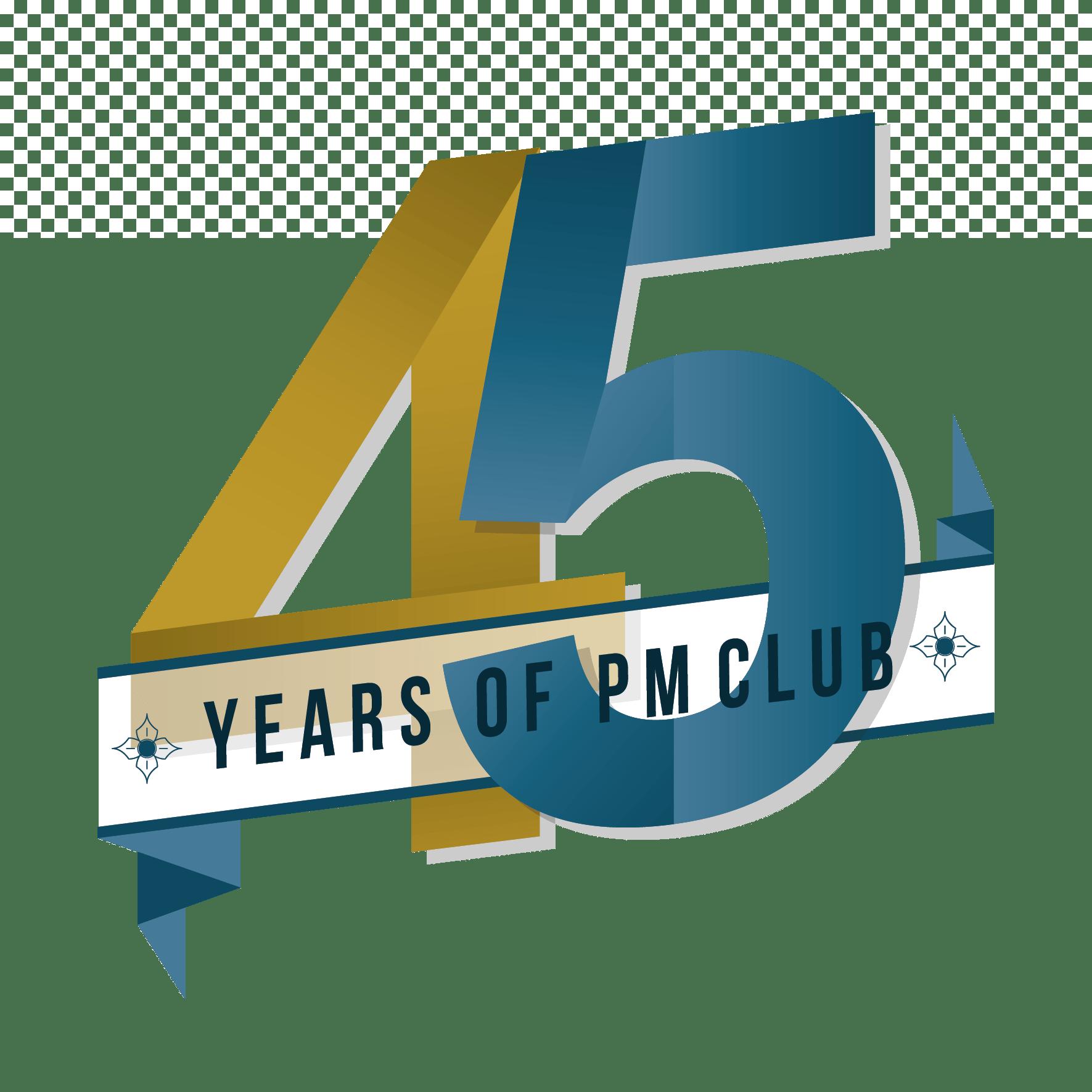 PMclub-45jaar embleem