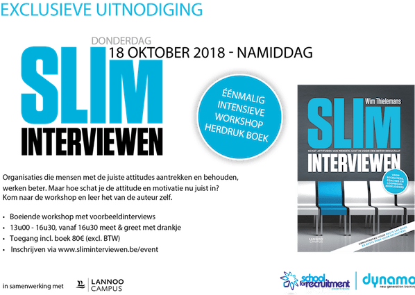 Slim interviewen intensieve workshop – 18/10 namiddag