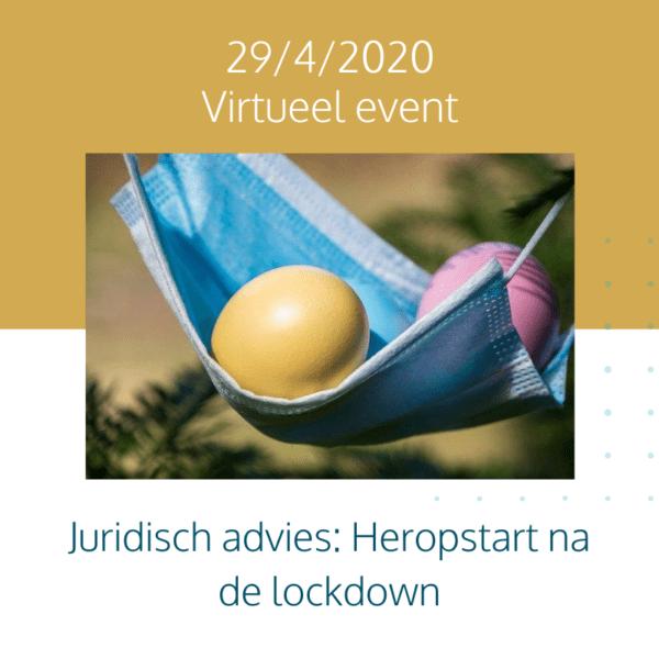 Juridisch advies: Heropstart na de lockdown